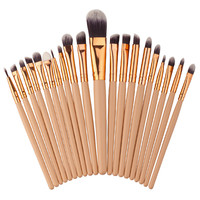20 Pieces/set Makeup Brushes Set Women Make up Eyeshadow Eyeliner Eyebrow Lip Contour Beauty Blending Cosmetic Brush Kit Tools
