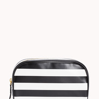Glam Striped Cosmetic Bag