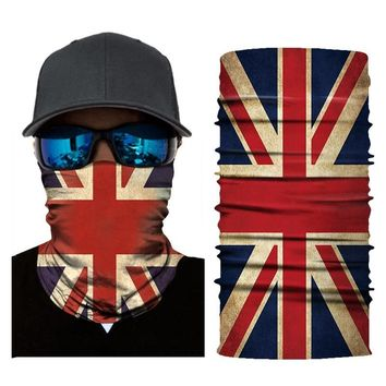 Bicycle 3D Flag Printed Headband Neck Bike Head Scarf Bandana Warmer Cycling Face Mask Scarves turban Mask for Outdoor Sports