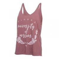 The Mizzou Store - Mizzou Bella + Canvas Juniors' Floral Pink Tank Top