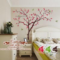 Cherry blossom tree wall decals Birds and Tree wall decal Nursery wall decal wall mural - z139 by Cuma