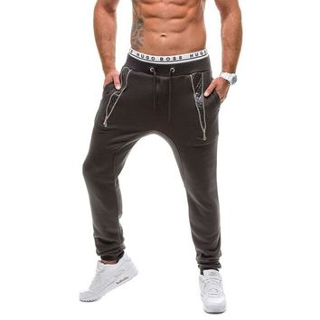 High Quality Men Joggers Sweatpants Fashion Patchwork Outdoors  Active Pants