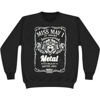 Miss May I Men's  Lion Sweatshirt Black Rockabilia