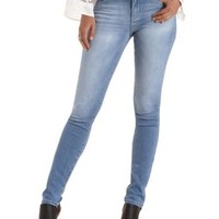 Med Wash Denim Faded Medium Wash Skinny Jeans by Charlotte Russe