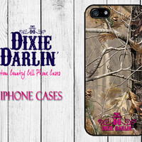 Country Inspired iPhone 4 / iPhone 4S / iPhone 5 / iPhone 5S / iPhone 5C / Camo Chic Phone Case - Hot Pink & Camo Simple Swirl (CP0801)