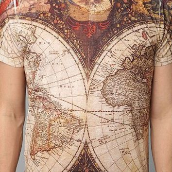Ancient Map Allover Tee