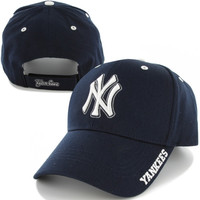 New York Yankees '47 Brand Frost Structured Adjustable Hat – Navy Blue