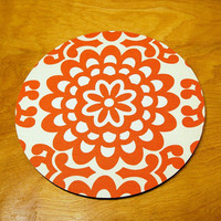 mousepad / Round Mouse Pad / Mat - Wallflower Cherry