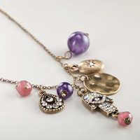 Hamsa Charms Necklace | World Market