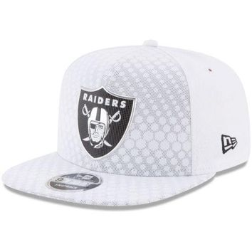 Oakland Raiders New Era NFL 9FIFTY Color Rush Sideline On Field Snapback Cap Hat