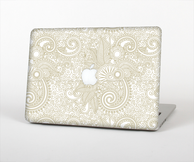 online store 37123 dbe51 The Tan & White Vintage Floral Pattern from DesignSkinz