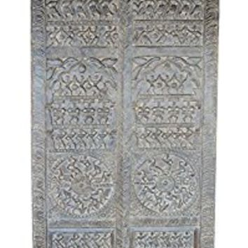 Antique Tribal Art Hand Carved Sculpture Wall Sculpture Door Panel Room Decor