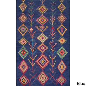 nuLOOM Contemporary Hand-tufted Wool Moroccan Triangle Rug (7' 6 x 9' 6) | Overstock.com Shopping - The Best Deals on 7x9 - 10x14 Rugs
