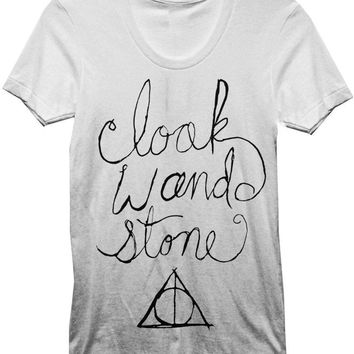 Harry Potter Cloak Wand & Stone T-Shirt - Deathly Hallows: Cloack