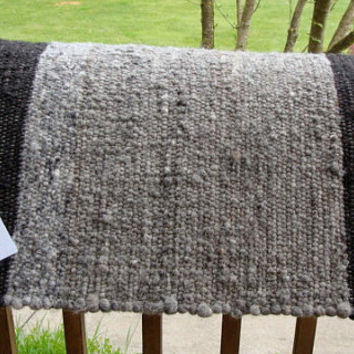 Alpaca Saddle Blanket Hand Loomed Western Horse Back Riding OOAK