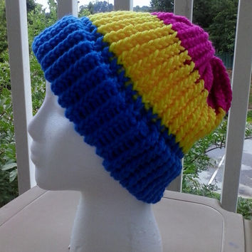 Pansexual Pride Knit Hat