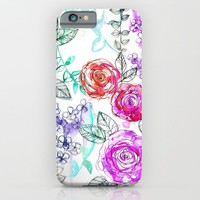Pastel Rose Garden 02 iPhone & iPod Case by Holly Sharpe