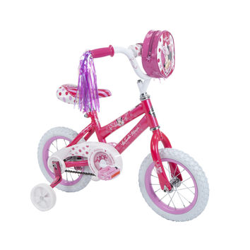 12 Inch Disney Minnie Mouse Bike Bicycle with Training Wheels, Tricycle