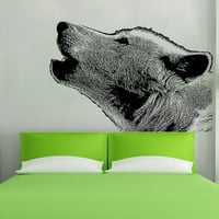 Vinyl Wall Decal Sticker Wolf Howling #5478