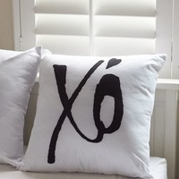 Ankit XO Pillow - Womens Scarves - White - One