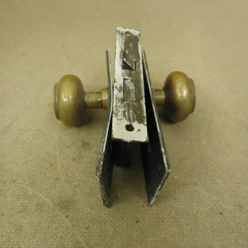 Cranby Door Knob Assembly Brass Mortise 935 Vintage -- Used