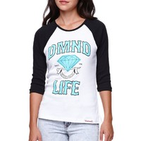 Diamond Supply Co Diamond Life Raglan T-Shirt - Womens Tee - White