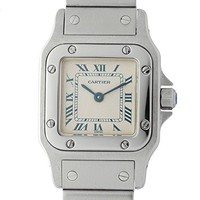 Cartier Santos de Cartier quartz womens Watch 1565 (Certified Pre-owned)