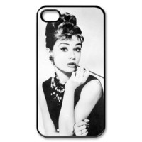 Audrey Hepburn Custom  iPhone Case 4 / 4s  case Apple Phone Hard Cover Plastic Film Hollywood