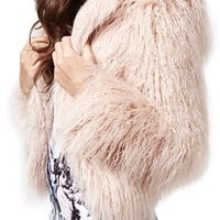 KENDALL + KYLIE at Topshop Faux Fur Coat | Nordstrom