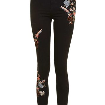 MOTO Floral Embroidered Raw Hem Jamie Jeans | Topshop
