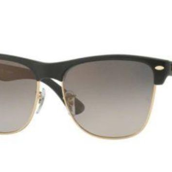 Authentic Ray Ban Clubmaster Sunglasses RB4175 877/M3 Black Frame Polarized 57MM