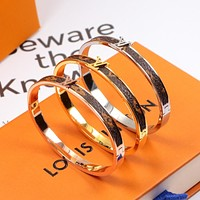 Louis Vuitton LV New Popular Women Men Titanium Steel Bracelet Couple Bracelet I-HLYS-SP