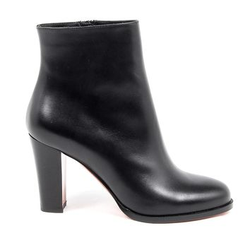 Christian Louboutin Womens Black Leather Ankle Boot