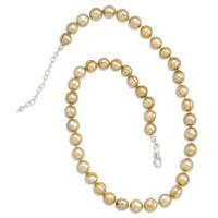 18in x 2in Extension Gold Cultured Freshwater Pearl Necklace