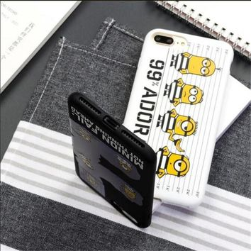 New Cute Cartoon Yellow Minions Candy Soft TPU Phone Case For iPhone 6 6s Plus 7 7 Plus Girl Gift Funda Cover capa Coque