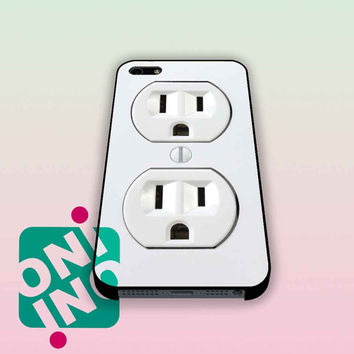 Electric Outlet iPhone Case Cover | iPhone 4s | iPhone 5s | iPhone 5c | iPhone 6 | iPhone 6 Plus | Samsung Galaxy S3 | Samsung Galaxy S4 | Samsung Galaxy S5