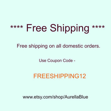 FreeShipping On All Domestic Orders