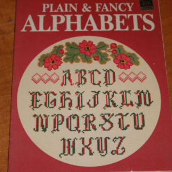 Cross Stitch Craft Pattern Book Alphabets Better Homes