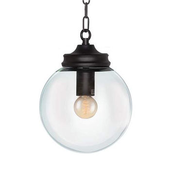 LNC Modern Globe Metal Pendant Lighting, Clear Glass Shade