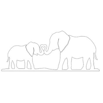 Elephant  Family  Home  Heart  Car  Sticker   for  Bumper  Laptop Car