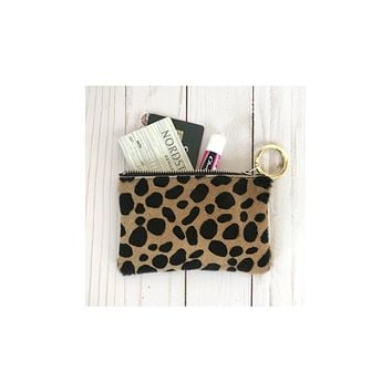 'Chelsea' Leopard Coin Purse