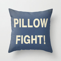 Pillow Fight, Custom plush pillow, throw pillow - 16 x 16 - Your Choice Of Colors