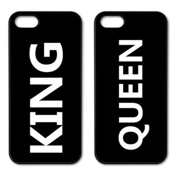 The King Queen Crown Couple Case for iPhone 4 5S 5C SE 6 6S 7 Plus Samsung Galaxy S3 S4 S5 Mini S6 S7 S8 Edge Plus A3 A5 A7