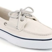 Sperry Top-Sider Bahama 2-Eye Boat Shoe White, Size 8.5M  Men's Shoes