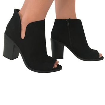 All The Reasons Suede Booties in Black