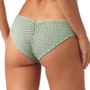 Pistache Scrunch Added Coverage Nu-Micro Bikini Bottom