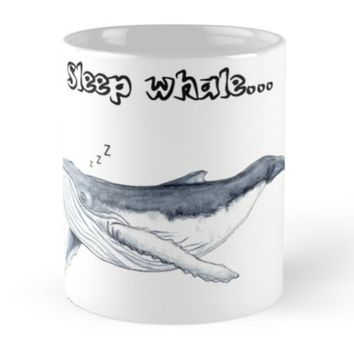 'Sleep whale' Mug by Chloé Yzoard