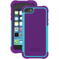 Ballistic Iphone 5 And 5s Tough Jacket Case (grape Purple And Teal Blue)