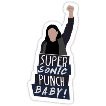 'Super Sonic Punch - Cisco' Sticker by vrink