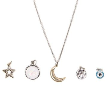 With Love From CA Celestial Interchangeable Charm Necklace - Womens Jewelry - Multi - One